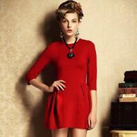 2015 winter/spring fashion women basic dress 4 color S-XL casual dress plus size women clothes women one-piece dress G346Y