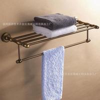 Antique Bathroom Towel Racks Continental Shelf Space Aluminum Metal Pendant retro Copper Storage Shelf hanging Quality