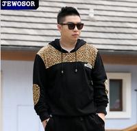 Brand men's hoodies plus size 5XL odd future streetwear sport suit tracksuits hoody Absorbent breathable Leopard big loose