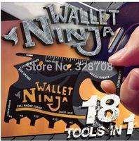 2014 NEW Credit Card Size Pocket Tool, 300pcs/lot Wallet Ninja 18 in 1 Multi-purpose Tool EDC tool Multi-Tool Wholesale