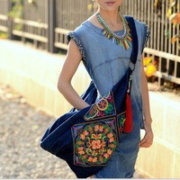 original Chinese style embroidery embroidered ethnic shoulder messenger bags women travel national vintage hobo bag