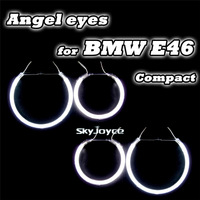 4PCS/set auto angel eyes drl kits with halo rings for E46 Compact/E83/X3 useful car parking accessories in daytime running led