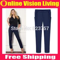 New Hi-Q 2015 Fashion Loose OL Leggings Pants boot pants Good Look Women Elastic Harem Pants Plus Size  S M L XL XXL A0714