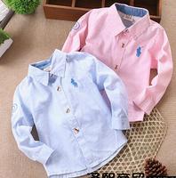 CS14 new 2015 boys shirts camisa infantil menino 2-5 age long sleeve boys clothes free shipping 4pcs/ lot