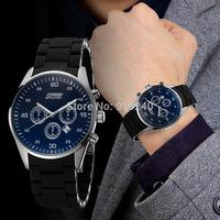 Free shipping 2015 fashion casual Man Steel waterproof watch Quartz Wristwatches 4 Style