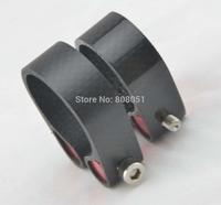 Glossy 31.8mm 34.9mm  3K Carbon Fiber Road Mountain BMX Bike Saddle Seat Post Clamp Collar free shipping