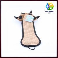 CUBE MARKET PET SHOP Door Cat Scratcher Plush Toys, Cat Scratcher Board Hanging Claws Grinding
