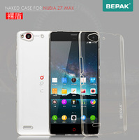 for Nubia Z7Max Bepak Brand Naked Series Anti-Scratch Hard Clear Back Case For Nubia Z7 Max , with screen protector + Retail Box
