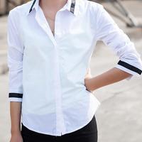 Free Shipping 2015 Women Shirts Spring Autumn OL Style Long Sleeve White Blouse Women Casual Shirt Women Tops Blusas Femininas