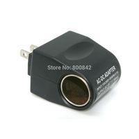 Black 110V AC To12V DC Car Cigarette Lighter Socket Charger Adapter US Plug