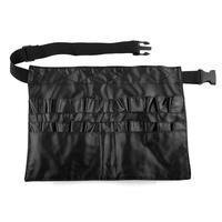 Hot New Portable Useful Black PU Small Capacity Make-up Brushes Case Bag Holder free shipping