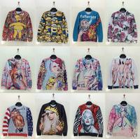 Fashion Women Pullovers 3D Sweatshirts For Men/Women Cartoon Minions 3D Graffiti Belle Naked Lady Flower Printed Hoodies Swearts
