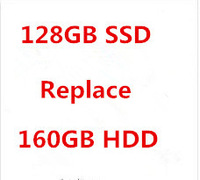 extra fee the specific laptop with 128GB SSD  instead of 160GB HDD