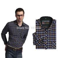 Plaid Cotton Casual shirt long sleeve men shirt camisa masculina Plus Size Brand New HIGH Quality 1152