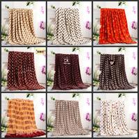 Hot! 200*230CM Europe brand blankets close skin soft warm ice mink cashmere towel blanket flannel sheets 16 color