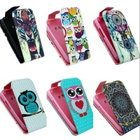 For Samsung Galaxy Young2 G130 Case High Quality Cartoon Design Magnetic Holster Flip PU Leather Cases Cover D1177-A