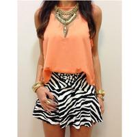 2015 Summer New Fashion Women Cropped GeometricEOMETRIC Chiffon Blouses Trendy Blusas Femininas Free Shipping