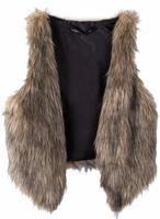 Women Girls Cropped Mock Plush Wrap Top Sexy Fur Cardigan Jacket Formal Coat Waistcoat