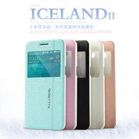for GALAXY GRAND Prime G5308W KLD Brand Super Thin Flip Design pu Case For Samsung Galaxy Grand Prime G5308W, With retail box