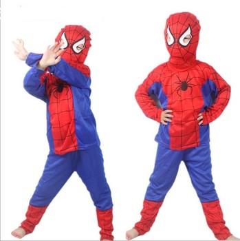 Новый 2015 человек паук дети одежда комплект мода человек паук ну вечеринку косплей ...