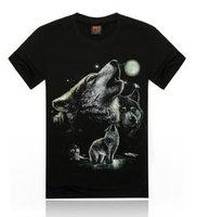 Hot 2015 Summer Basic Men Tee Personality Streetwear Cotton Fabric T Shirt Wolf Snack Fish Skull Scorpions Print Hip Hop T-Shirt