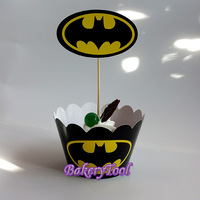 Baby Shower Event Party Cake Accessory Supplies Cupcake Wrappers & Toppers Free Shipping Total 24pcs Many Designs Can be Choose