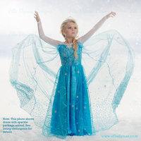 Frozen dress,baby girls kids party dress, anna elsa dress ,children clothing