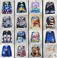 New 2015 Fashion women men Hoodies 3d sweatshirts top high quality 3D animal A spoof  printing Hoodies Sweatshirts