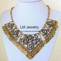 2014 tattoo choker collar chunky vintage turkish coin bib fashion boho jewelry for women statement Necklaces & pendants LM-SC978