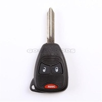 New 3/2+PANIC Buttons keyless entry Remote key fob case shell for Jeep Chrysler Dodge Grand Caravan Ram Charger Magnum