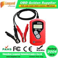 Free Shipping Vehicle battery tester, Auto battery analyzer Support English, French, Dutch, Finnish, German, Polish, Italian