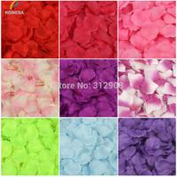 1000pcs Silk Rose Flower Petals Leaves Wedding Table Decorations Event Party Supplies Multi Color Wreaths