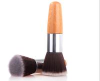 1 piece Flat top wood round makeup Brushes Synthetic hair EDM Kabuki multifunction  powder blusher cosmetic brush XM050