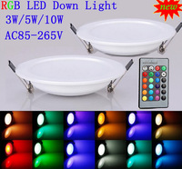 10pcs/lot  10w led rgb panel light with remote controller /led disco light panel rgb 2year warranty