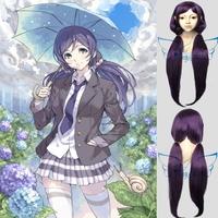 Angelaicos Love Live! Nozomi Tojo Girl Purple 2 Ponytails Thanksgiving Costume Cosplay Wigs