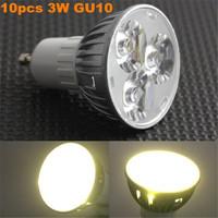 10pcs/lot Super Bright 3W GU10 LED Bulbs Light 85-265V Led Spotlights Warm/Cool White GU 10 LED downlight