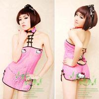 Sexy Ligerie Uniforms Temptation Women Nightgown Sleepwear MiniSkirt Sexy Cheongsam Sexy Cosplay Dress