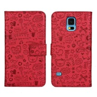New Case for Samsung Galaxy S5 i9600 Luxury Leather Cover mobile phone cases accessories
