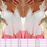 Free Shipping Hot Women Sexy Lace Stitching Backless Chiffon Blouse Strap Tops Shirt   K5BO
