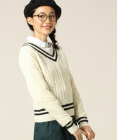 New Arrival Spring Autumn Twist Knitted Women Sweater College Style V-neck Long Sleeve Casual Pullovers Winter Knitwear SW165