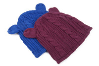 Infant Baby Hats Autumn Girls Knitted Solid Design Boys Skullies Cotton Cute Beanies Fashion New Head Accessories 5pcs/lot