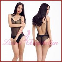 sexy lingerie for women transparent gauze bodysuits backless Teddies women's underwears AS003