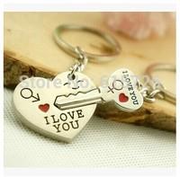 2015 New Couple I LOVE YOU Heart Keychain Ring Keyring Key Chain Lover Romantic Creative Birthday Gift