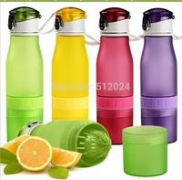 HOT 700ml Scrub lemon cup Portable cup creative mug cup manual juice cup children kids plastic mugs free shipping