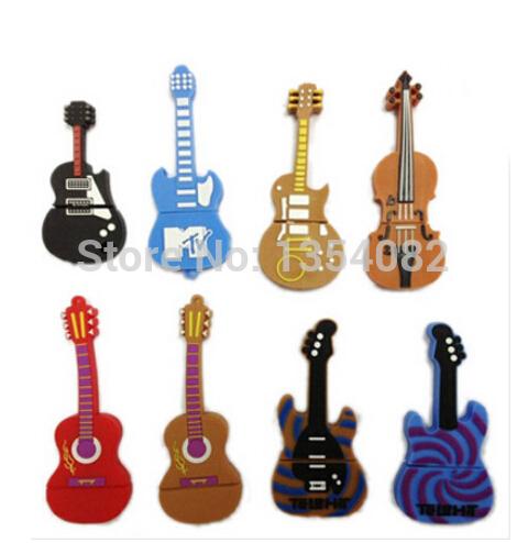 New Cartoon Enough Cheap Mixed Guitars Models 1GB 4gb/8gb/16gb/32gb usb 2.0 memory flash stick pen thumbdrive/disk/car/gift(China (Mainland))