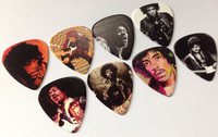 Wholesale 120pcs Jimi Hendrix 2-sides Color printing 0.71mm Guitar Picks