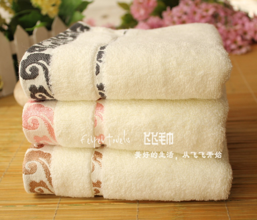 10X Towel 34cmX 75cm 110g/piece 100% Cotton for Face Bath Towel Sent at random Yellow Pink Gray(China (Mainland))