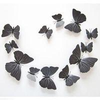 Modern 3D Butterfly Art Design Decal Wall Stickers Home Decor Decorations 12pcs