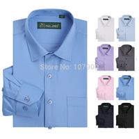 High quality Men's classic twill shirt Long sleeve dress shirt men Business formal shirts Mens clothing camisa masculina