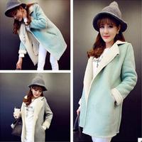 Autumn winter new fashion women Europe big brand warm Lambs wool candy colors coat SW138